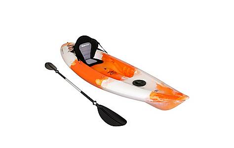 image of Bluewave Sit On Top Single Touring Kayak, Orange And White