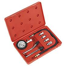 image of Sealey Ct955 Car Motorcycle Petrol Engine Compression Tester Test Tool Gauge Kit