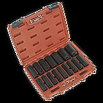 "image of Sealey Ak5816m Impact Socket Set 16pc 1/2""""sq Drive Deep Metric"