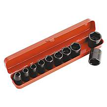 """image of Sealey Ak56/11m Impact Socket Set 10pc 1/2""""""""sq Drive Metri"""