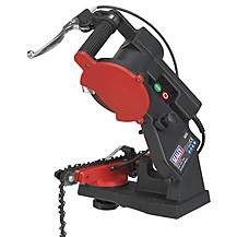 image of Sealey 240v Electric Bench Chainsaw Blade Sharpener Grinder Chain Saw Sms2002c