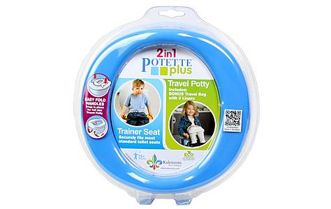 image of Potette Plus 2 In 1 Travel Potty - Blue/navy