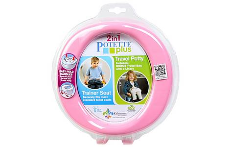 image of Potette Plus 2 In 1 Travel Potty - Pink/purple