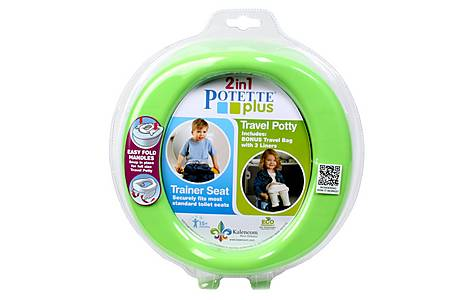 image of Potette Plus 2 In 1 Travel Potty - Green/blue