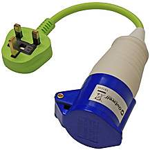 image of Outwell Electric Uk Mains Hook Up Adapter Plug - Motorhome & Caravan