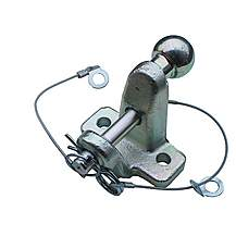 "image of Universal 50mm Ball And Pin Towing Hitch Coupling 4.0 Ton Capacity """"e"""" Approved"