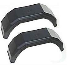 image of A Pair Of Plastic Trailer Mudguards For 8 Inch Wheels