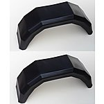 image of A Pair Of Plastic Trailer Mudguards For 10 Inch Wheels