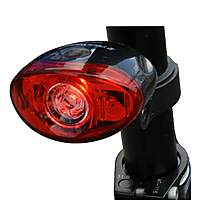 image of Black Widow Defender 3 Led Rear Bike Light. (middle Led Is Super Bright 0.5 Watt)