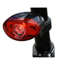 Black Widow Defender 3 Led Rear Bike Light. (middle Led Is Super Bright 0.5 Watt)