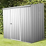 image of 8ft X 5ft Space Saver Zinc Metal Shed (2.26m X 1.52m)