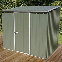 image of 8 x 5 Space Saver Pale Eucalyptus Metal Shed (2.26m x 1.52m)
