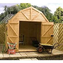 image of 8ft X 8ft Deluxe Tongue & Groove Dutch Barn With Double Doors + 1 Window (12mm T&g Floor & Roof)