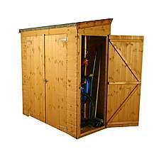 image of 6 x 3 Tongue & Groove Pent Shed With Double Doors + Universal Side Door
