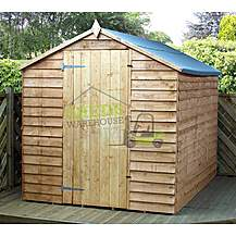 image of 8 x 6 Super Saver Overlap Apex Windowless Shed With Single Door