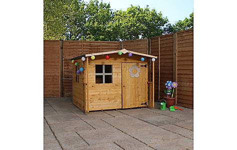 image of 5ft X 5ft Tongue & Groove Playhouse With Overhang