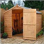 image of 8 x 6 Tongue & Groove Single Door Apex Windowless Shed With Single Door