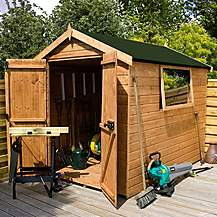 image of 6 x 6 Premier Tongue & Groove Apex Shed With Double Doors + 1 Window