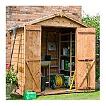 image of 4 x 6 Tongue & Groove Windowless Apex Shed With Double Doors