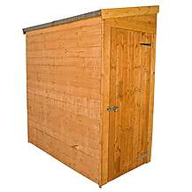 image of 6 x 3 Tongue & Groove Tall Pent Shed *No Front Doors* + Universal Side Door