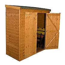 image of 6ft x 2ft 7in  Overlap Pent Storage Windowless Shed With Double Doors