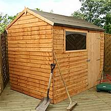 image of 6 x 8 Reverse Overlap Apex Shed With Single Door + 1 Window