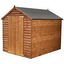 image of 8 x 6 Windowless Super Saver Overlap Apex Shed With Double Doors
