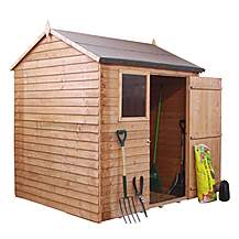 image of 6 x 6 Reverse Overlap Apex Shed With Single Door + 1 Window