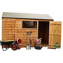 image of 6 x 10 Reverse Overlap Apex Shed With Single Door + 1 Window