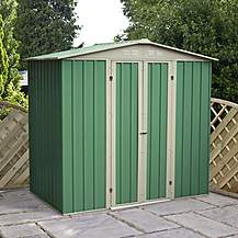 image of 6 x 4 Value Apex Metal Shed (2.04m x 1.31m)