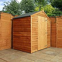 image of 3 x 6 Windowless Super Saver Overlap Apex Shed With Single Door