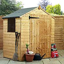 image of 4 x 6 Value Tongue & Groove Apex Shed With Single Door + 1 Window