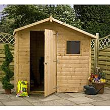 image of 7 x 5 Tongue & Groove Offset Apex Shed With Single Door + 1 Window