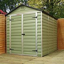 image of 6 x 5 Plastic Apex Shed (2.63m x 1.88m)