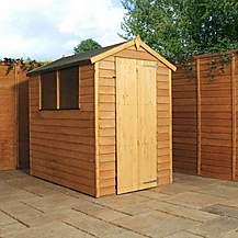 image of 6 x 4 Super Saver Overlap Apex Shed with Single Door + 2 Windows