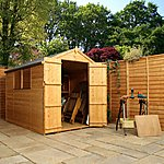 image of 8 x 6 Tongue & Groove Apex Shed With Double Doors + 2 Windows