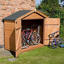 image of Bike Store 7 x 3 Premier Tongue & Groove With Double Doors