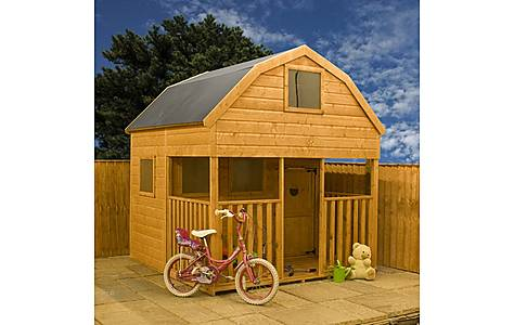 image of Dutch Barn Double Storey Playhouse - Double Storey - 7ft X 7ft