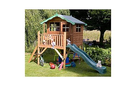 image of Poppy Tower Playhouse & Slide 5ft X 7ft