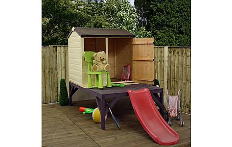 image of 4ft X 3ft Tower Playhouse With Slide 1160mm X 900mm