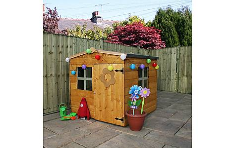 image of 4ft X 4ft Tongue & Groove Playhouse + 2 Windows