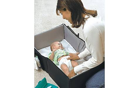 image of Goldbug Infant Folding Travel Cot With Fitted Sheet