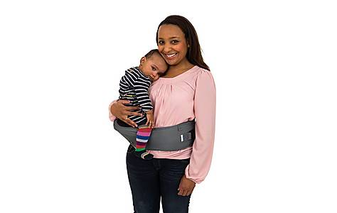 image of Hippychick Hipseat  Back Safety Baby Carrier - Black