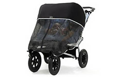 image of Outlook Shade-a-babe Black Double Pram Shade