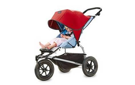 image of Outlook Solar-shade Stroller Blind Red Single