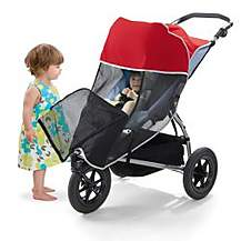 image of Outlook Shade-a-babe Red Stroller Sunshade (single)