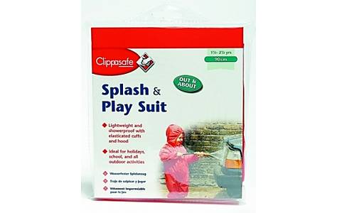image of Clippasafe Splash & Play Toddler Wet Suit (red 90cm)