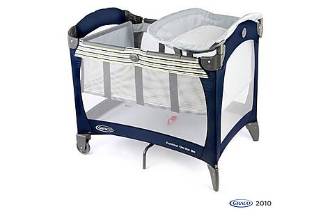 image of Graco Contour Travel Cot Butterfly Blue
