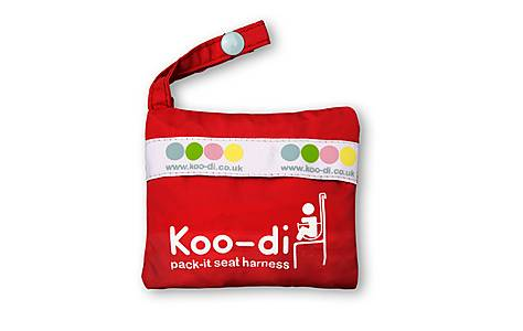 image of Koo-di Pack It Baby Seat Harness In Red