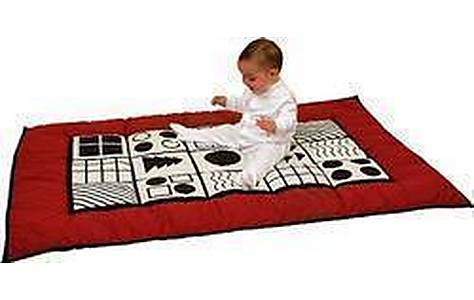 image of Hippychick Baby Playmat In Black And White